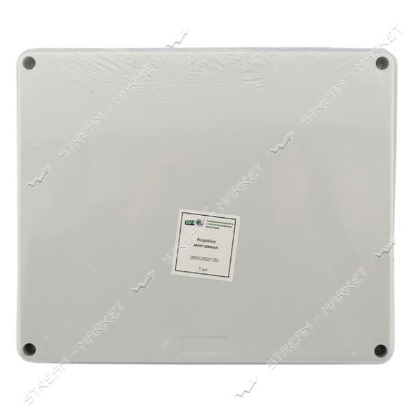 Коробка распределительная наружного монтажа 300*250*120мм. с резинками IP65