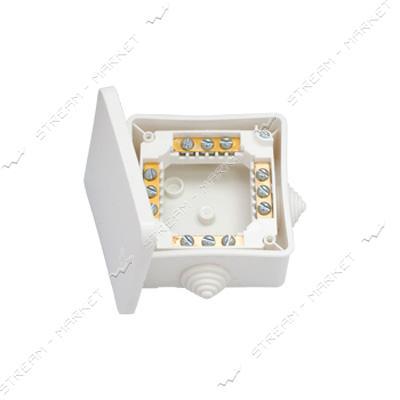 Коробка монтажная КМ-222 Беларусь с клемами 102*102*43, 5мм