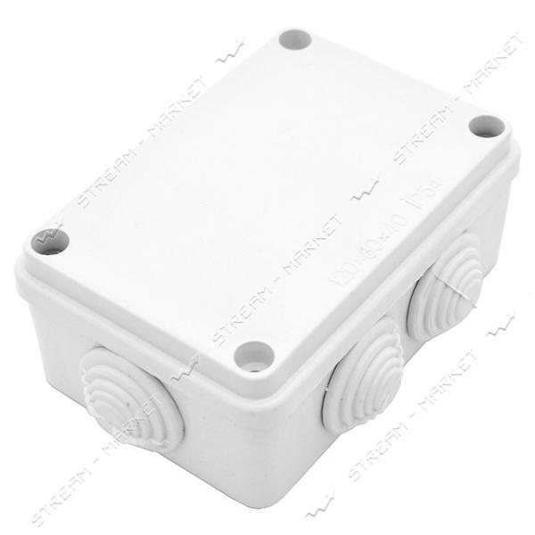 Коробка распределительная наружного монтажа 120*80*40мм с сальниками