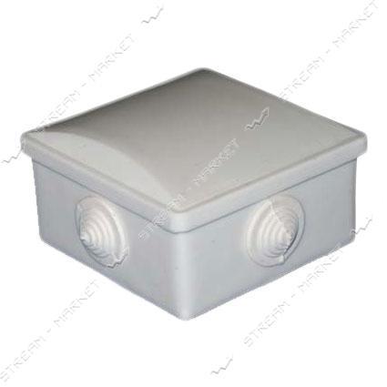 Коробка распределительная наружного монтажа 80*80*40 мм (4 каб. вводов) с резинками