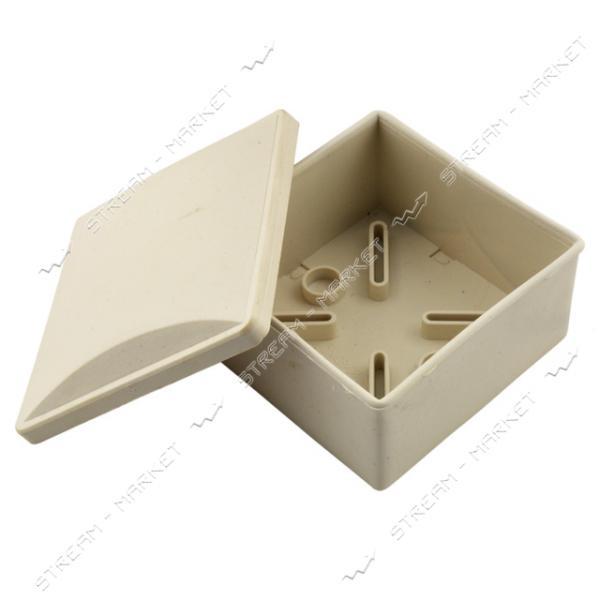 Коробка распределительная наружного монтажа 80*80*40мм без сальников