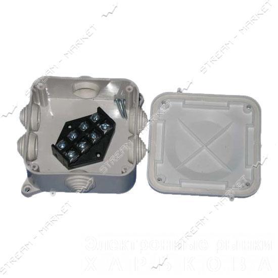 Коробка распределительная наружного монтажа Р3 (клема) 4 х 10 мм 50шт. в мешке IP 41 - Монтажные коробки на рынке Барабашова