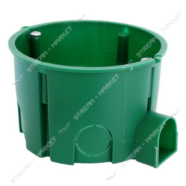 Коробка монтаж.35100 'Schneider Electric' в бетон (зеленая) 65*45 стыковочная-ушко (поштучно)