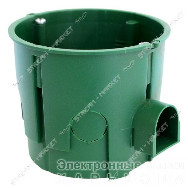 Коробка монтаж.35101 'Schneider Electric' в бетон зеленая 65*60 стыковочная-ушко, ГЛУБОКАЯ (поштучно) - Монтажные коробки на рынке Барабашова