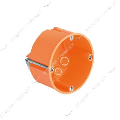 Коробка монтажная 60*40 в гипс (оранжевая) пластмас.ножка , стыковочная под элемент ( КРАТНО 50 шт.)