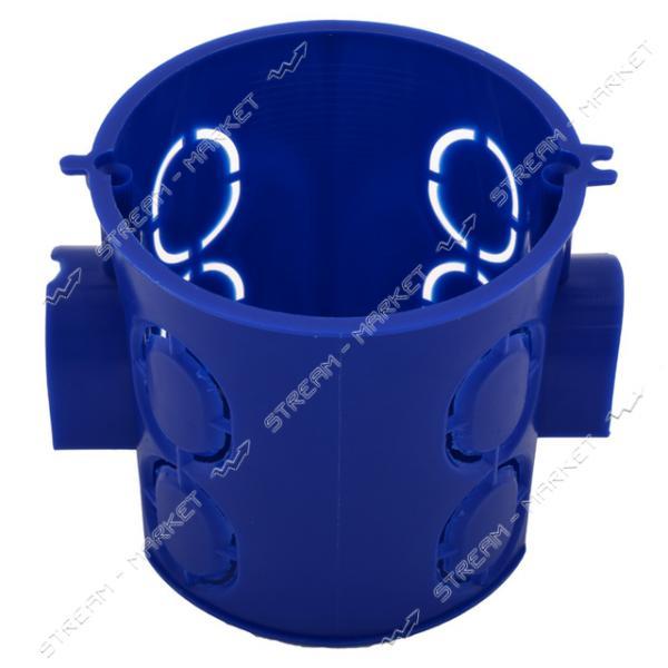 Коробка монтажная КЕ-500 Беларусь в бетон углубленная D66, 2*80*65мм Синяя