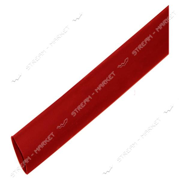 Трубка термоусадочная 10мм красная бухта 100м
