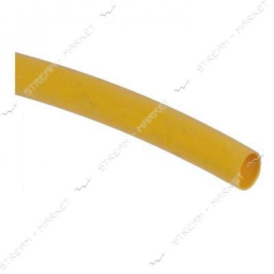 Трубка термоусадочная 6мм желтая бухта 100м