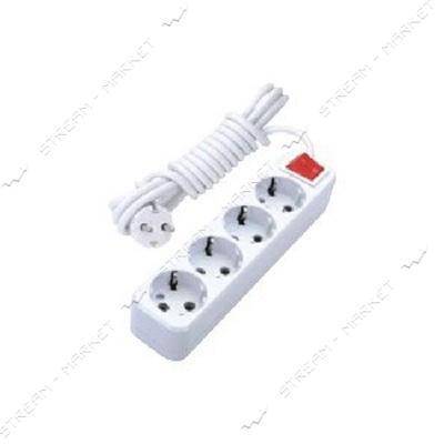Удлинитель 4/3м DE-PA 41103 c заземлением и выключателем