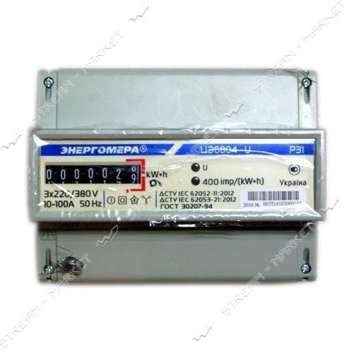 Электросчетчик Энергомер 3ф 6804 (5-60 А) МР31 на DIN рейку Украина Харьков