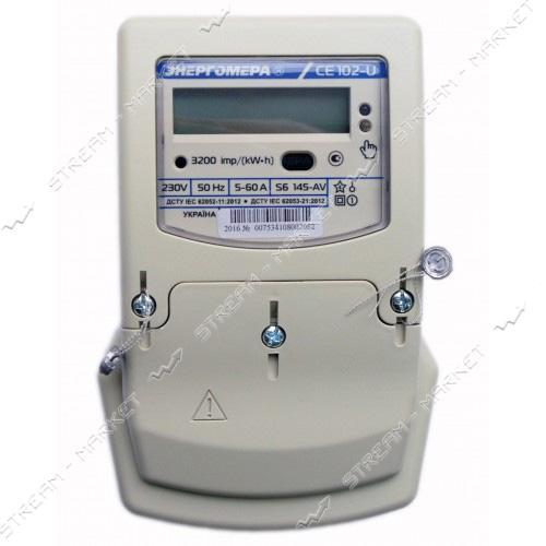 Электросчетчик Энергомера СЕ 102 S6 145-AV Украина (многотарифный)