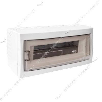 Коробка под 12 автоматов BYLECTRICA КНО-12Д со стеклом, для наруж.монтажа (белая) Беларусь