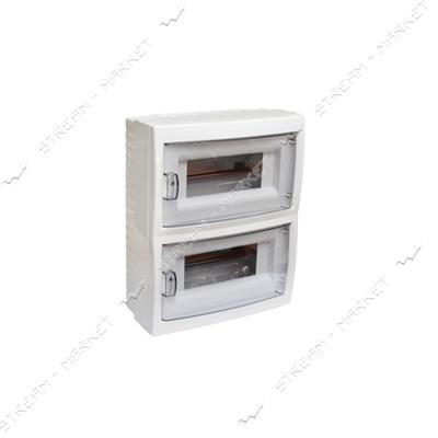 Коробка под 16 автоматов BYLECTRICA КНО-16Д со стеклом, для наруж.монтажа (белая) Беларусь