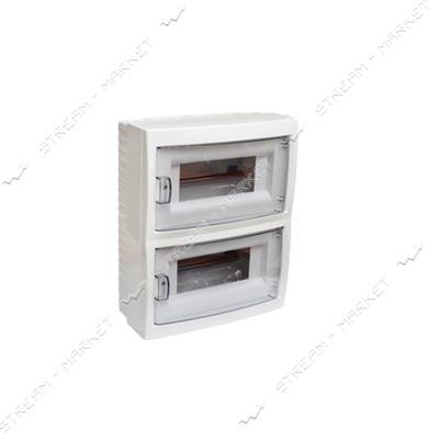Коробка под 24 автомата BYLECTRICA КНО-24Д со стеклом, для наруж.монтажа (белая) Беларусь