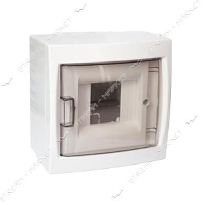 Коробка под 4 автомата BYLECTRICA КНО-4Д со стеклом, для наруж.монтажа (белая) Беларусь