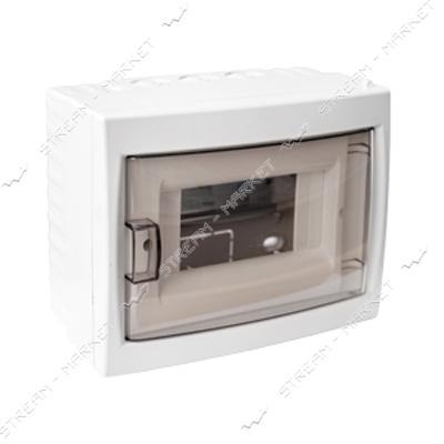 Коробка под 6 автоматов BYLECTRICA КНО-6Д со стеклом, для наруж.монтажа (белая) Беларусь
