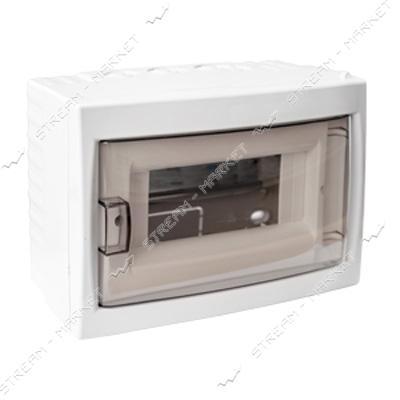 Коробка под 8 автоматов BYLECTRICA КНО-8Д со стеклом, для наруж.монтажа (белая) Беларусь