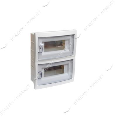 Коробка под 16 автоматов BYLECTRICA КНС-16Д со стеклом, для внутр.монтажа (белая) Беларусь
