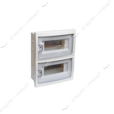 Коробка под 24 автомата BYLECTRICA КНС-24Д со стеклом, для внутр.монтажа (белая) Беларусь