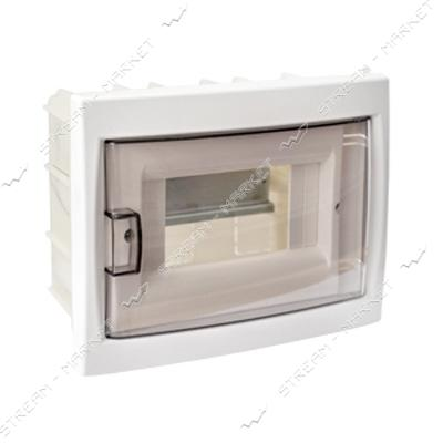 Коробка под 6 автоматов BYLECTRICA КНС-6Д со стеклом, для внутр.монтажа (белая) Беларусь