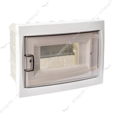 Коробка под 8 автоматов BYLECTRICA КНС-8Д со стеклом, для внутр.монтажа (белая) Беларусь