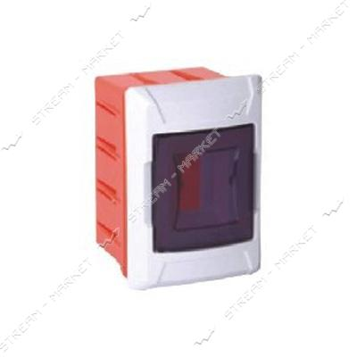 Щиток на 2 автомата DE-PA 91102 со стеклом внутренний (белый) Турция