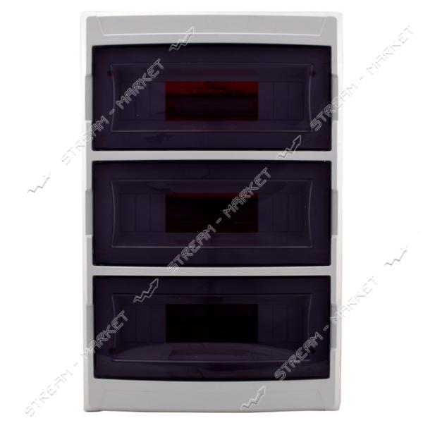 Щиток на 36 автомата DE-PA 91136 (3-х уровневый) со стеклом внутренний (белый) Турция