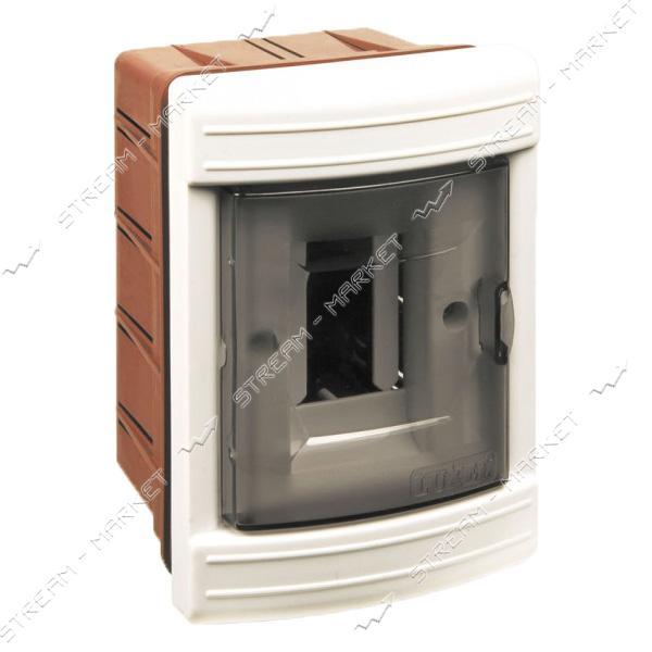 Щиток электрический LUXEL 8102 на 2 автомата со стеклом внутренний
