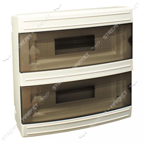 Щиток электрический LUXEL 8024 на 24 автомата со стеклом наружный