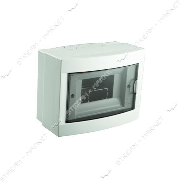 Щиток электрический VIKO 90912006 на 6 автомата со стеклом наружный