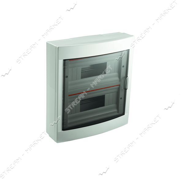 Щиток электрический VIKO 90912024 на 24 автомата со стеклом наружный