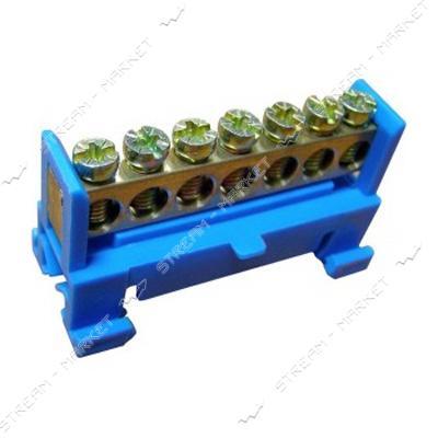 Нулевая шина на DIN-рейку 7 отверстий