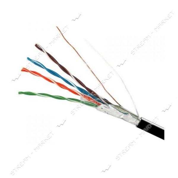 FTP AlCu 4*2*0.51 Electro House - 26 наружный черный с тросом (бухта 305м)