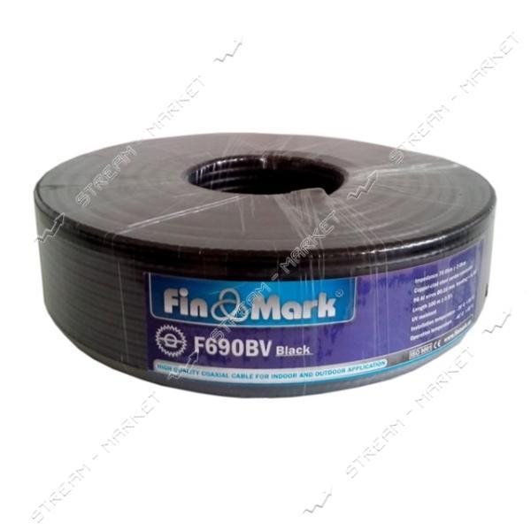 Кабель телевизионный FinMark F690 75 Ом черный 100м