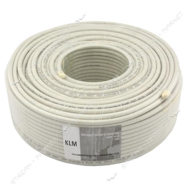 TV кабель KLM RG690BV-W белый (жила CuFe фольга Al оплётка Al 90%)