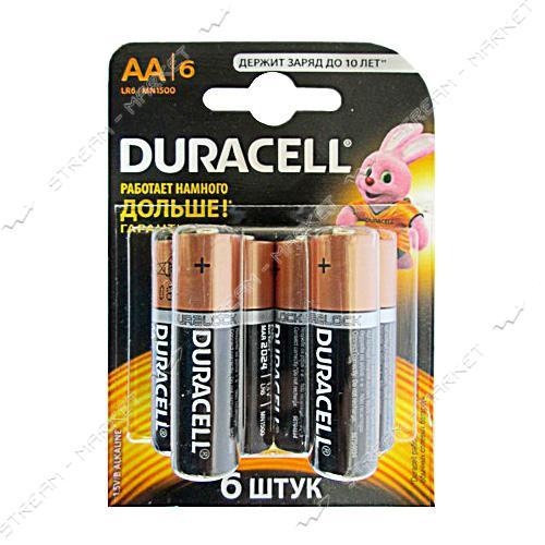 Батарейка Duracell LR03 ('пальчик') (уп.6 шт. цена за уп.)