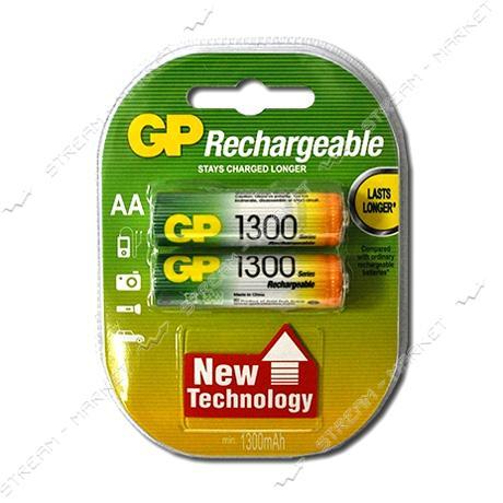 Аккумулятор GP AA/HR6 1300 mAh уп.2 шт цена за уп.