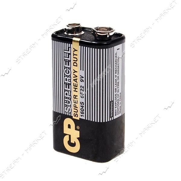 Батарейка GP Supercell солевая 6F22 ('крона')