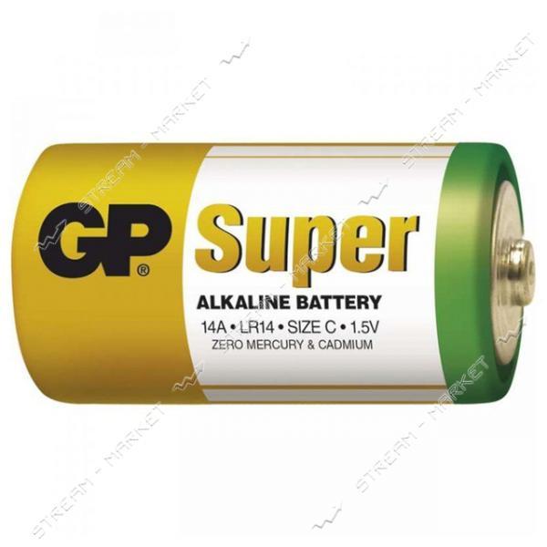 Батарейка GP Super щелочная C/LR14 ('средний бочонок') (уп.2 шт. цена за уп.) блистер