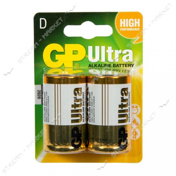 Батарейка GP Ultra D/LR20 ('большой бочонок') (уп.2 шт. цена за уп.)