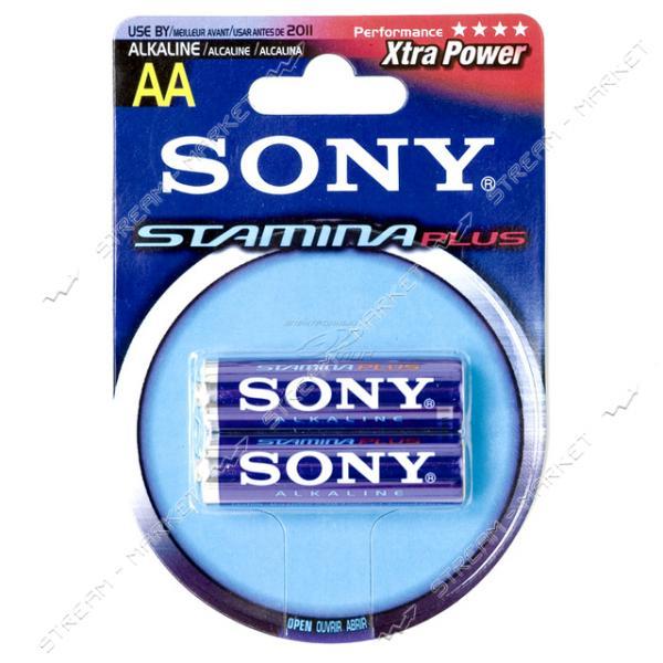 Батарейка Sony LR6 Stamina Plus ('пальчик') (уп.2 шт. цена за уп.)