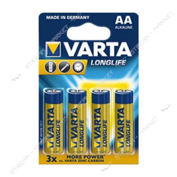 Батарейка Varta LongLife щелочная AA/LR06 ('пальчик') (уп.4 шт. цена за уп.) блистер