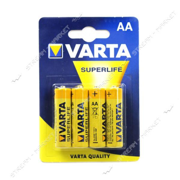 Батарейка Varta SuperLife солевая AA/R06 ('пальчик') (уп.4 шт. цена за уп.)