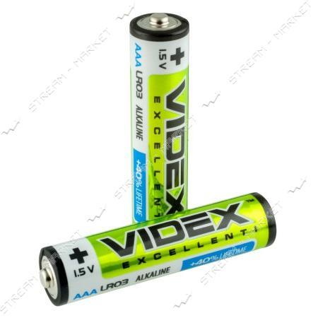 Батарейка Videx AAA/LR03 ('микропальчик') (уп.2 шт. цена за уп.)