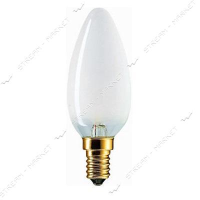 Philips Лампа ДС (Декоративная Свеча) В35 230В 40Вт Е14 матовая