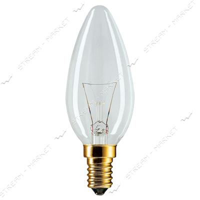 Philips _10018533 Лампа ДС (Декоративная Свеча) В35 230В 40Вт Е14 прозрачная