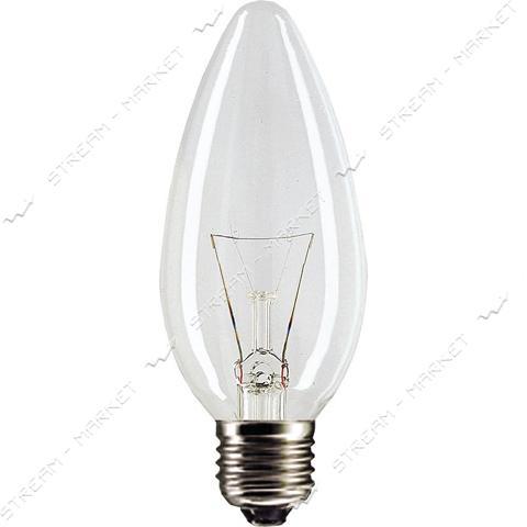Philips Лампа ДС (Декоративная Свеча) В35 230В 60Вт Е27 прозрачная