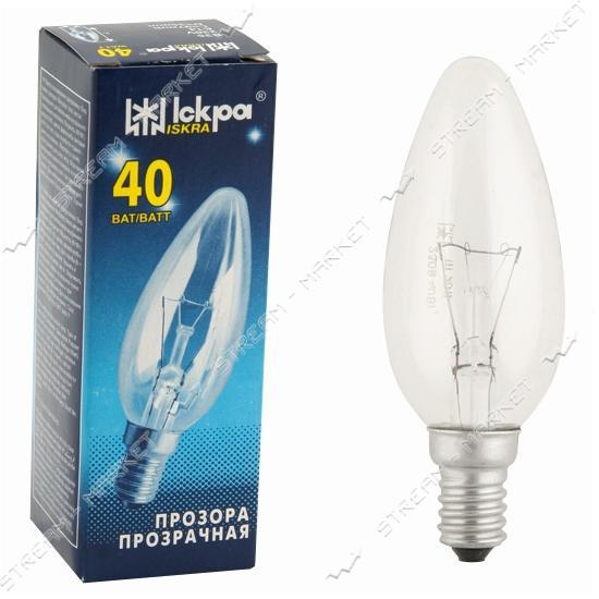 Лампа декоративная свеча Искра Львов В35 230В 60Вт Е14 инд. упаковка (10 шт.