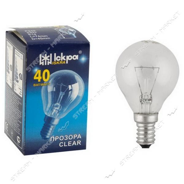 Лампа декоративный шар Искра Львов P45 230В 40Вт Е14 (10 шт.)
