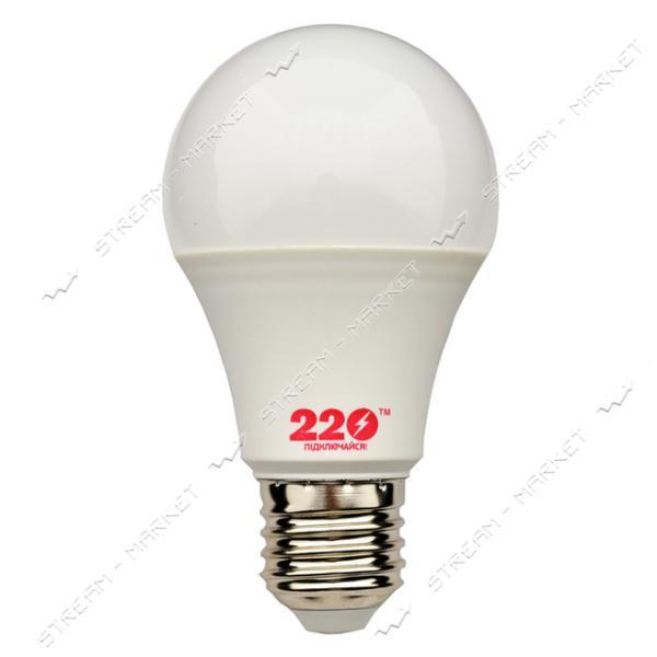 Лампа светодиодная 220 A60 10W 3000К E27